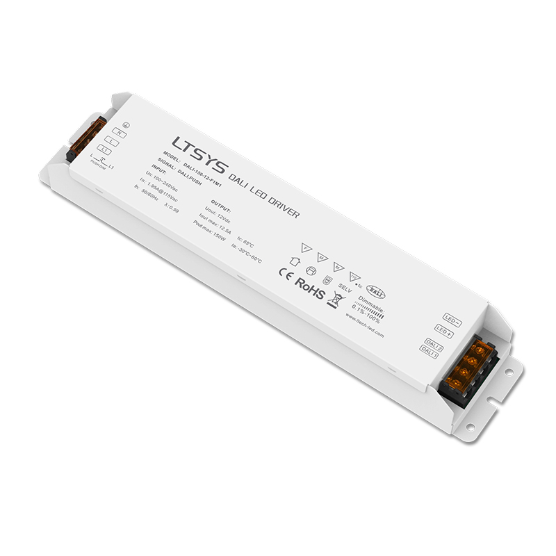 LTECH Dali Dimming Driver 100-240VAC;Dali Power driver;AC100-240V input;12V 12.5A 150W output Led Dali Dimmable Driver,Push Dim ltech dali ps din dali bus power supply din rail 100 240vac 50 60hz input 15vdc 200ma output dali dimming driver for led lights