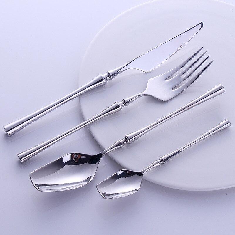 Ensemble de couverts Portable occidental voyage 304 acier inoxydable avec poignée de luxe couteau fourchette dîner vaisselle ensemble couverts argenterie