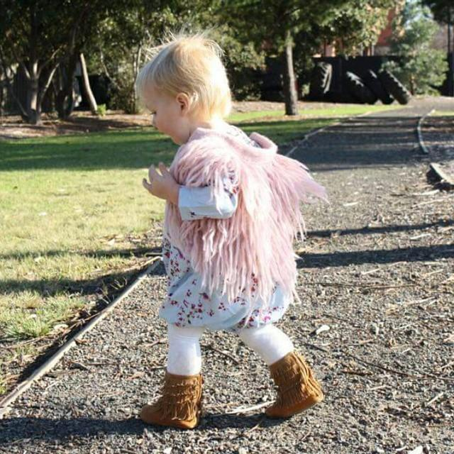 c86c5ba64d53 New Fashion Babies Kids Tassels Cardigans Knitting Vests Candy Color ...