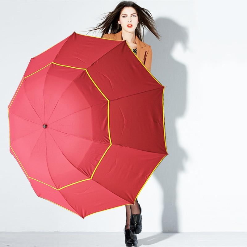 130 cm Große Top Qualität Regenschirm Männer Regen Frau Winddicht - Haushaltswaren - Foto 6