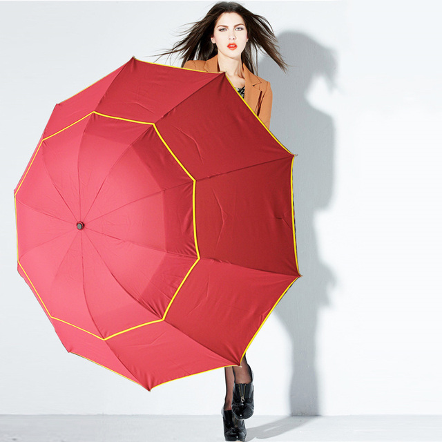 130cm Big Top Quality Umbrella Men Rain Woman Windproof Large Paraguas Male Women Sun 3 Floding Big Umbrella Outdoor Parapluie 5