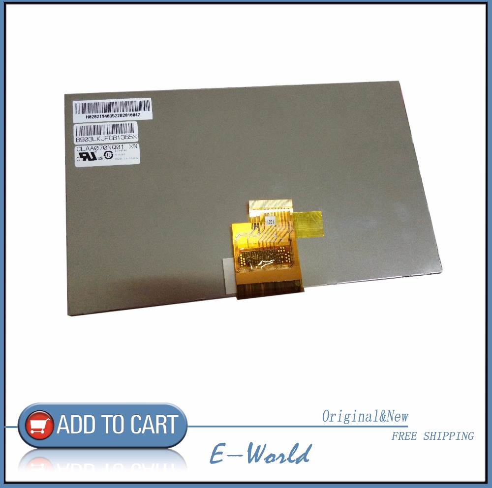 Original 7inch LCD screen CLAA070NQ01 XN for HP slate 7 tablet pc dedicated <font><b>1024</b></font> <font><b>*</b></font> <font><b>600</b></font> IPS free shipping image
