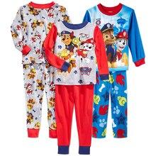 Длинная ночная наборы рубашка мальчиков мальчик хлопка весна пижамы детская осень