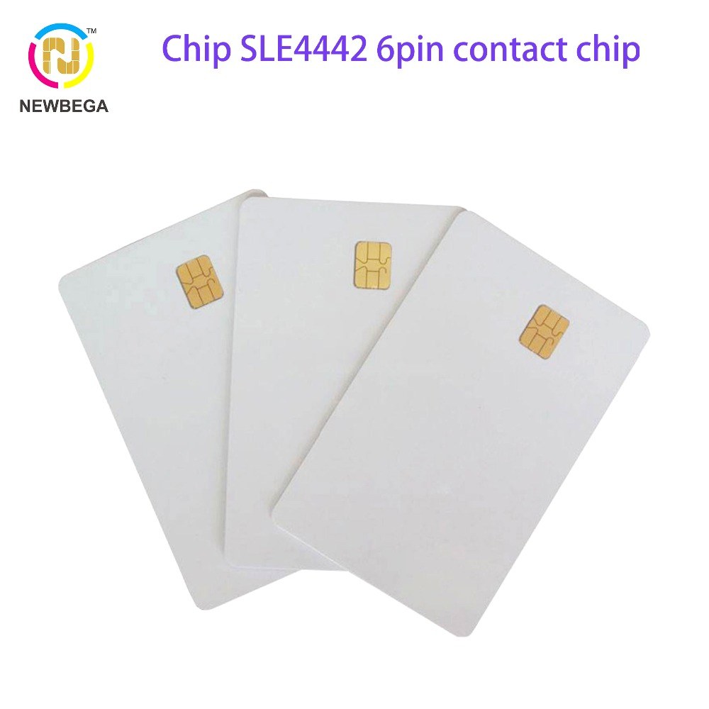 10PCS RFID ISO 7816 IC Smart Card SLE4442 6pin Contact Chip Card