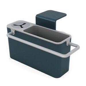 Image 5 - Полезная кухонная коробка для хранения губка держатель для слива мыла полка органайзер корзина инструменты для мытья кухонные аксессуары Organizador