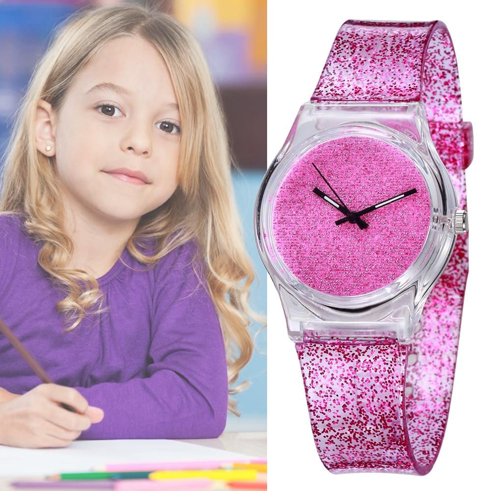 Shine Fashion Watch Boy Girl Crystal Bling Clock Children's Quartz Wrist Watch Kids Child Hourgift Waterproof Relogio Infantil
