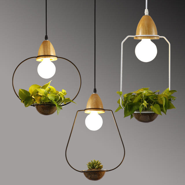 Originality Modern Pendant Light E27 Holder Hanging Plant