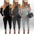 Сексуальные Женщины С Длинным Рукавом Боди Bodycon Комбинезон Romper Брюки Playsuit Клубная Одежда