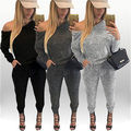 Sexy Women Long Sleeve Bodysuit Bodycon Jumpsuit Romper Pants Playsuit Clubwear