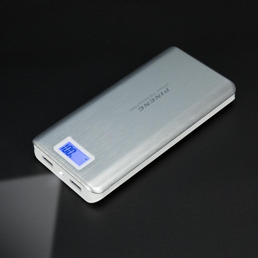 Цена за Оригинал pineng pn 999 20000 мАч high capacity мобильный банк питания dual usb зарядки с фонариком портативный внешний аккумулятор