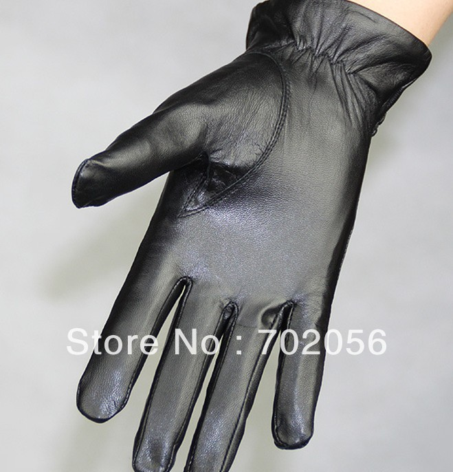Back To Search Resultsapparel Accessories Obliging 2018 New Male Thermal Sheepskin Gloves Winter Warm Velvet Thicken Windproof Mens Fashion Leather Five Finger Gloves For Driver