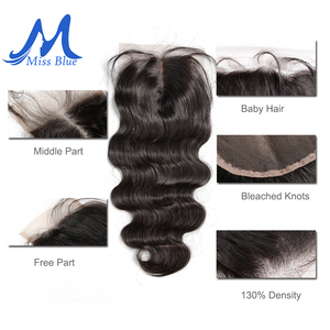 Image 5 - Missblue 3 Bundles With Closure Peruvian Hair Weave Bundle With Lace Closure Body Wave 100% Remy Human Hair Bundles With Closure