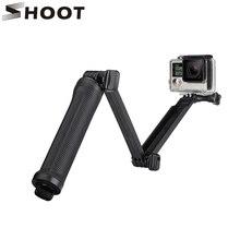Стрелять 3 способ сцепление Водонепроницаемый монопод selfie stick для GoPro Hero 5 4 3 сеанса SJ4000 Xiaomi Yi 4 К Камера штатив Go Pro аксессуар