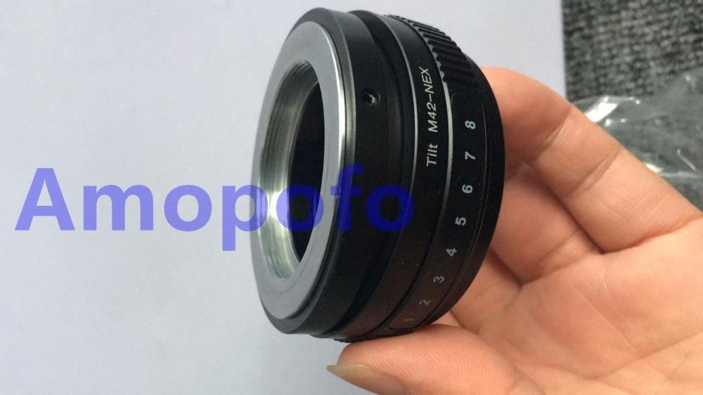 Amopofo le nouvel adaptateur de lentille d'inclinaison de M42-NEX M42 lentille à vis pour Sony E A5100 A6000 A3000 5 T 3 5N VG10