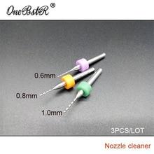 3Pcs/Lot Miniature Drill Bit 0.6/0.8/1.0mm for 3D Printer Extruder Nozzle Cleaner Dedicated To Clean 3D PrintHead Nozzle