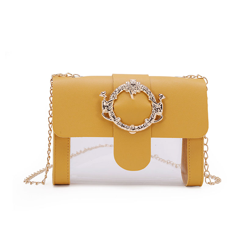 Transparent Clean Chain Crossbody Clutch Shoulder Bags For Women 2019 Female Girls Mini Messenger Bag Sac A Main Handbag