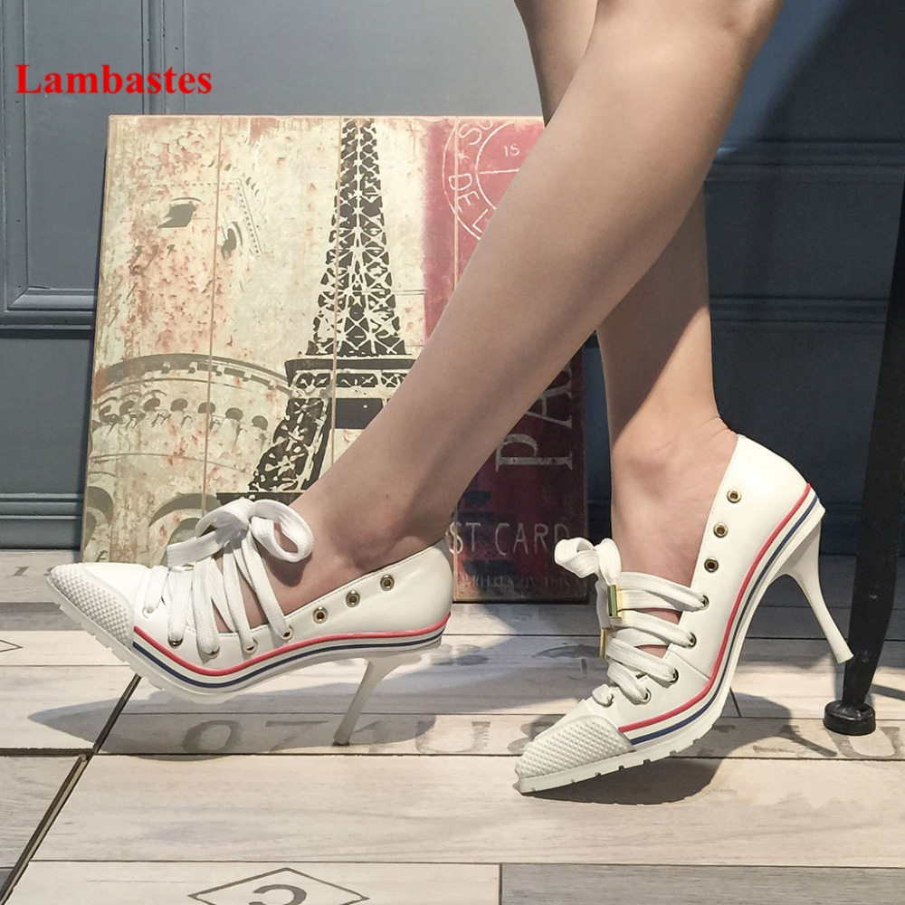 2018 Spring Summer Fashion Women Casual Pumps Pointed Toe Mixed Color Cross-tied Pumps Shoes Women Hollow Rivet Leisure Pumps цена