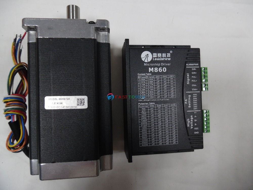 2 phase 86mm NEMA34 12N.m Stepper Drive and Motor M860+86HS120