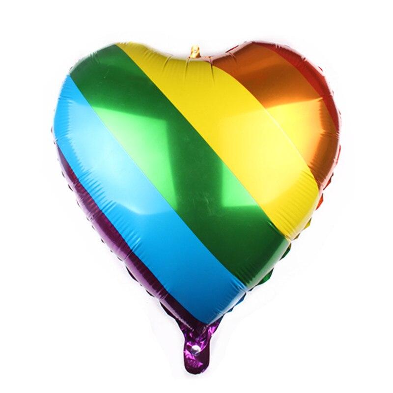50 pcs 24 pouces amour arc-en-ciel foill ballons air ball saint valentin mariage fête d'anniversaire décorations enfants hélium ballon globos