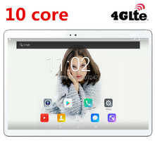 "2017 Newest Android 7.0 Deca Core 10"" Tablet PC 4GB RAM 64GB ROM inch 1920X1200 8MP 6000mAh WIFI GPS 4G LTE DHL free shipping"