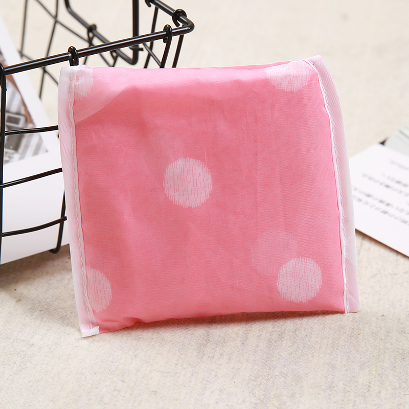 Polyester Reusable Shopping Bags Women printing Portable Cloth Eco Grocery Bag Folding Large Capacity Handbags Foldable Tote Bag in Shopping Bags from Luggage Bags