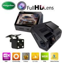 B90s Авто Видеорегистраторы для автомобилей Камера регистраторы Full HD 1080 P 5.0MP 4.3 дюймов автомобиля Регистраторы поддержка ПК камера с дополнительной Class10 16 г 32 г Мемери