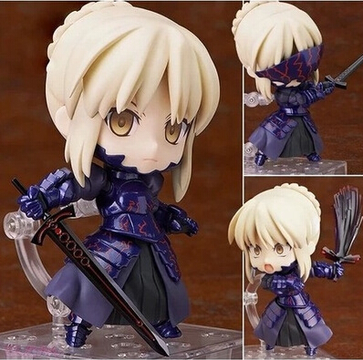 NEW hot 10cm Fate Zero Fate stay night black saber Arturia Pendragon action figure toys collection