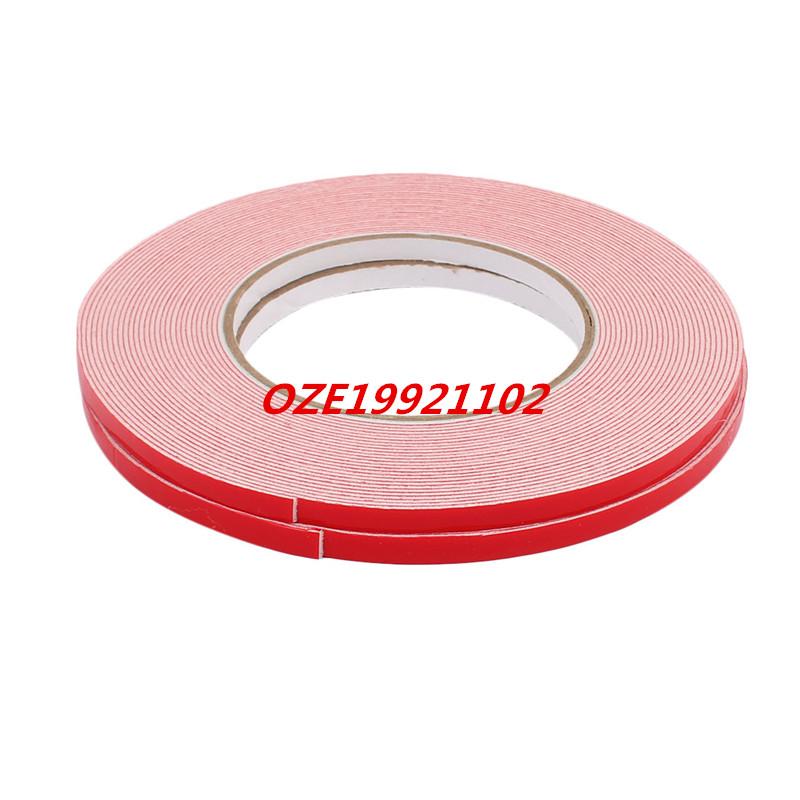 6mmx1mm White Double Sided Self Adhesive Sponge Foam Tape for Car 10M Long 10m super strong waterproof self adhesive double sided foam tape for car trim scotch