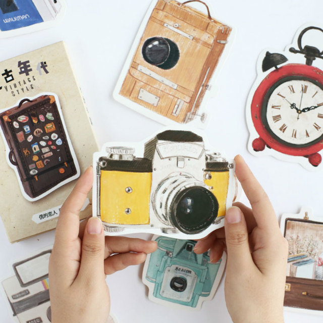 30pcs Lot Vintage Camera Heteromorphism Gastronomy Alarm Clock Postcard Greeting Card Christmasbirthday Message Gift Cards