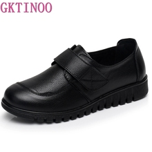 GKTINOO Women Flat Shoes Soft Genuine Leather Mother Shoes Comfort Casual Shoes Female Autumn Women flats