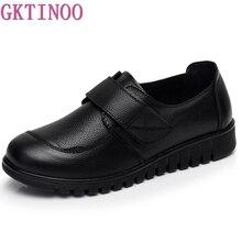 GKTINOO נשים שטוח נעלי רך עור אמיתי אמא נעלי נוחות נעליים יומיומיות נקבה סתיו נשים דירות