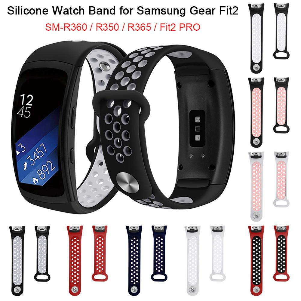Silicone Replacement Watch Band Wrist Strap for Samsung Gear Fit2 SM-R360 SM-R350 SM-R365 Gear Fit2 PRO Smart Bracelet Universal hangrui 316 steel watch band for samsung gear fit 2 pro band wrist strap butterfly buckle for gear fit2 sm r360 smart accessory