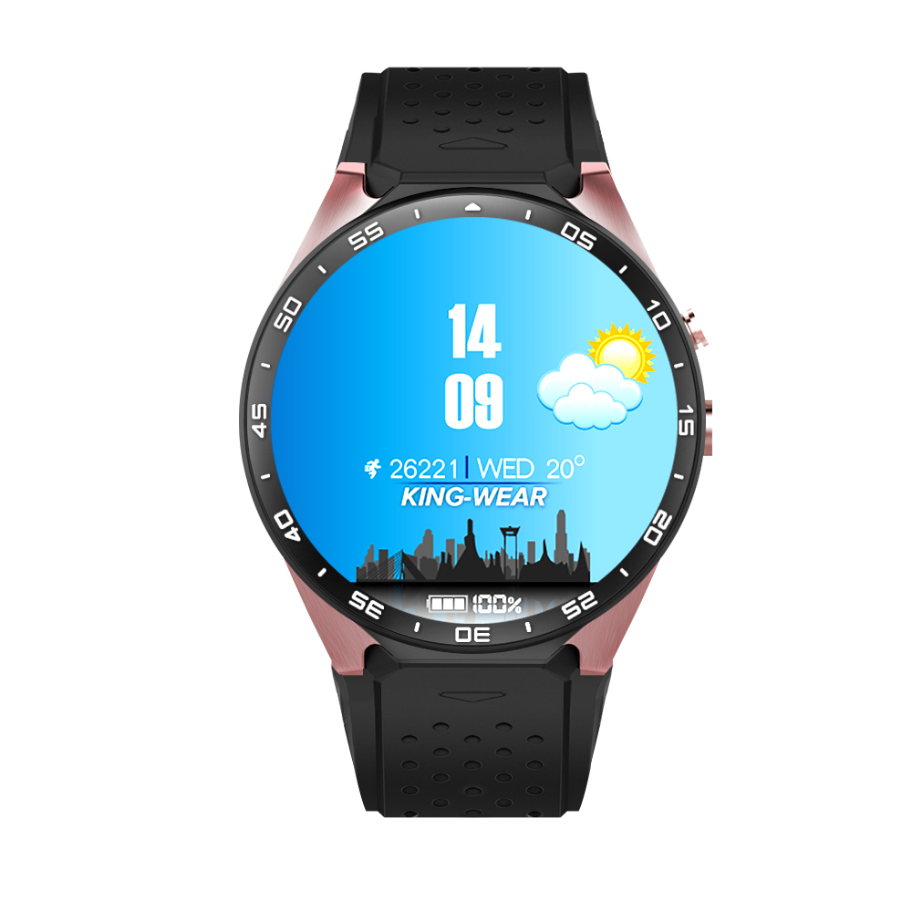 KW88 smart watch Android 5.1 OS MTK6580 CPU 1.39 inch Screen 2.0MP camera 3G WIFI GPS smartwatch for apple moto huawei