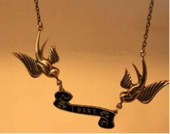 Vintage fashion Flying Swallow bronze medal letter Pendant necklace sweater chain Free Shipping 20pcs/lot
