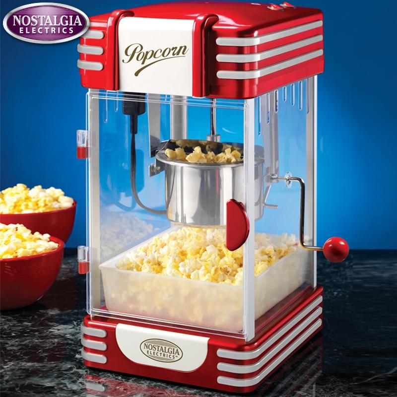 1pc stainless steel Classic Popcorn Machine American Vintage Dual Popcorn Machine Sugar Household Air Popcorn Machine цена и фото