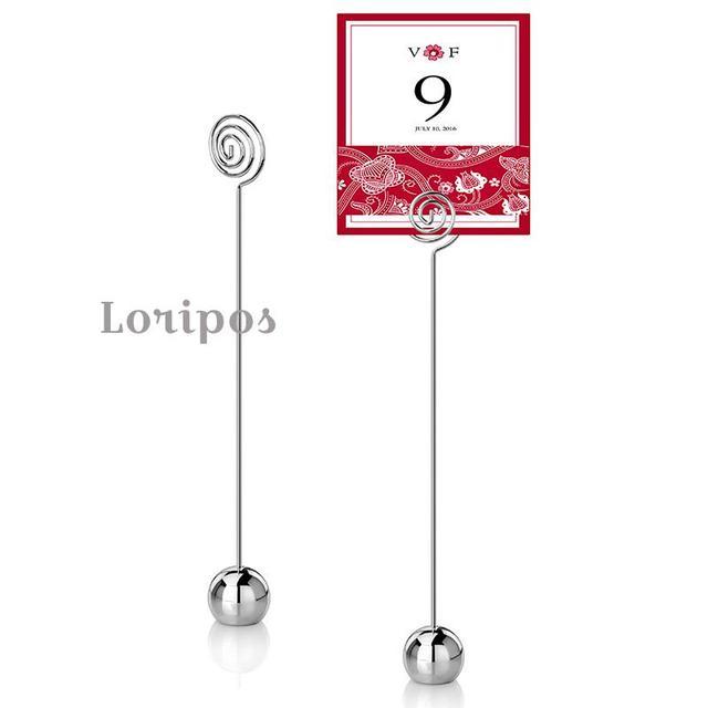Metal Number Price Tag Display Restaurant Table Desk Sign Holder - Restaurant table sign holders