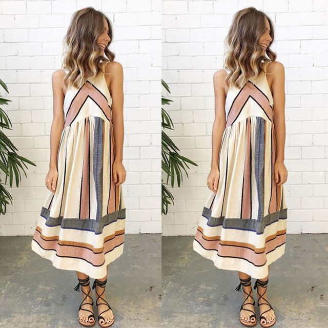 Women Lady Summer Dress Clothing Sleeveless Casual Party Dress New Arrive Sundress