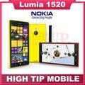 1520 desbloqueado 100% teléfono móvil original nokia lumia 1520 quad-core 2g + 16g de almacenamiento wifi windows mobile 20mp 3g reformado