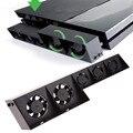 Venda quente USB Externo Turbo Controle De Temperatura De Refrigeração 5 Ventilador Cooler para Sony PS4 para Promoção