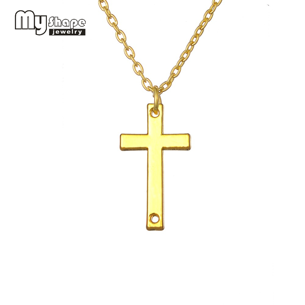 aafc0a8ae676 Mi forma Jesús Cruz religiosa Cruz de Color plata colgante collar de cadena  para las mujeres y la muchacha del envío libre de las mujeres