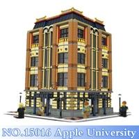 15016 Лепин город серии 7968 шт. Apple Университет рисунок строительные блоки кирпичи набор игрушек для детей модели Наборы совместимы подарок
