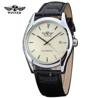 Hot Winner Automatic Mechanical Watch Clock Casual Gent S Leather Band Men Wristwatch Tag Watch Aaa