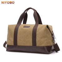 NIYOBO Large Capacity Canvas Travel Bags Casual Men Hand Luggage Travel Duffle Bag Big Tote Male