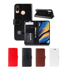 все цены на for Wiko View 3 Lite Case TPU and PU Leather Protective Cover with Flip Stand Function for Wiko Y80 Case Money Card Slots Holder онлайн