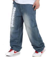 2015 Новых Мужчин Свободные Джинсы Больших Размеров Брюки Хип-Хоп Джинсы Скейтборд Брюки джинсовые Большой Размер 30-46
