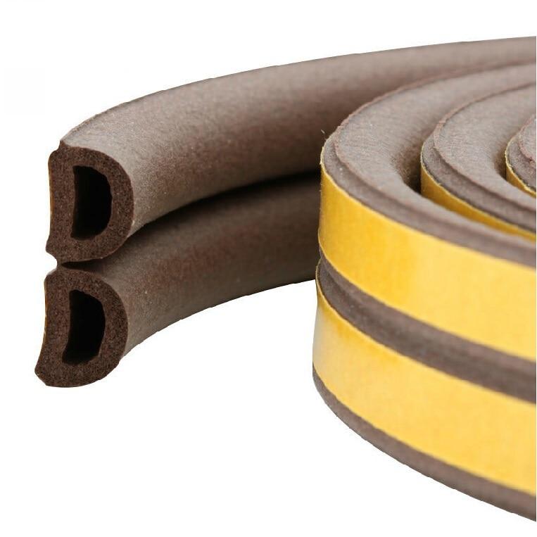 Us 1399 D Type 9x6mm 5meters Self Adhesive Wooden Door Window Rubber Seal Strip Weatherstripping Door In Sealing Strips From Home Improvement On