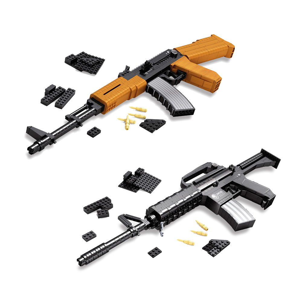 M16 AK47 Ausini SVD Sniper Gun Building Blocks Military Weapon Sniper Gun Educational Enlighten DIY Brick Compatible With gift 6pcs gun model military assemble weapon sniper assault rifle cs ak47 svd m4a1 acr swat building blocks bricks toys boys children