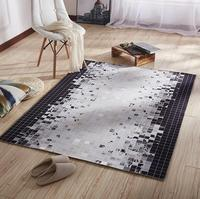 Nordic Super Large Soft Flannel Geometric black and white Rug thick living room Carpet play mat Non slip rug blanket