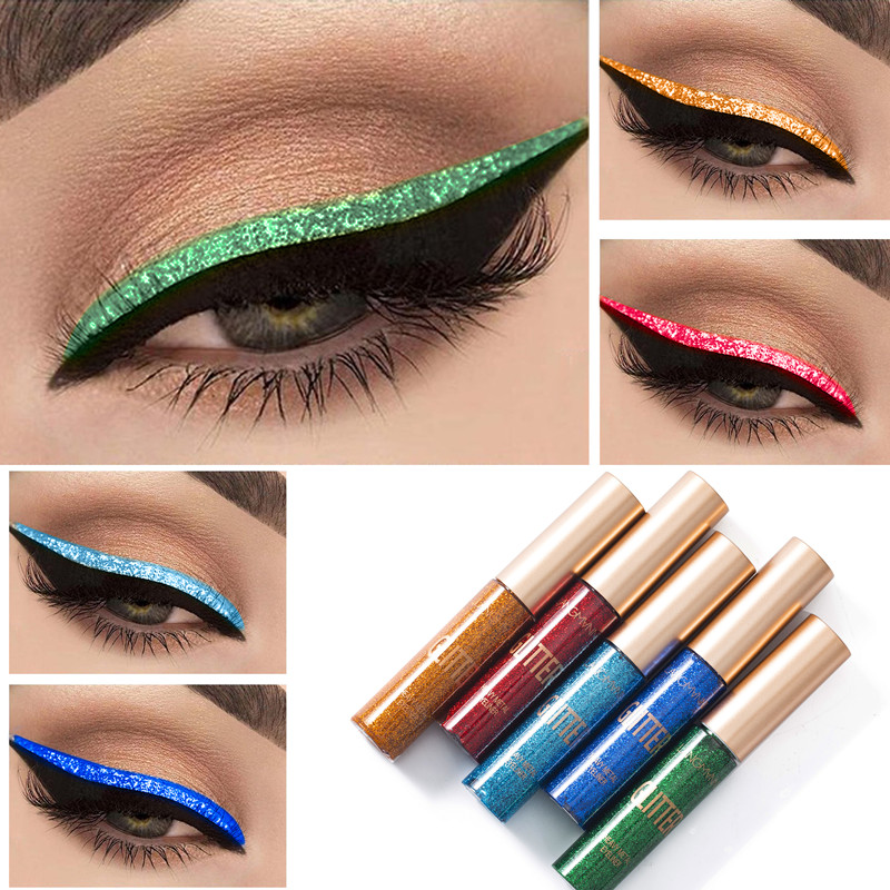 1 pcs glitter eyeliner waterproof eye makeup metallic gloss liquid shadow pen professional beauty
