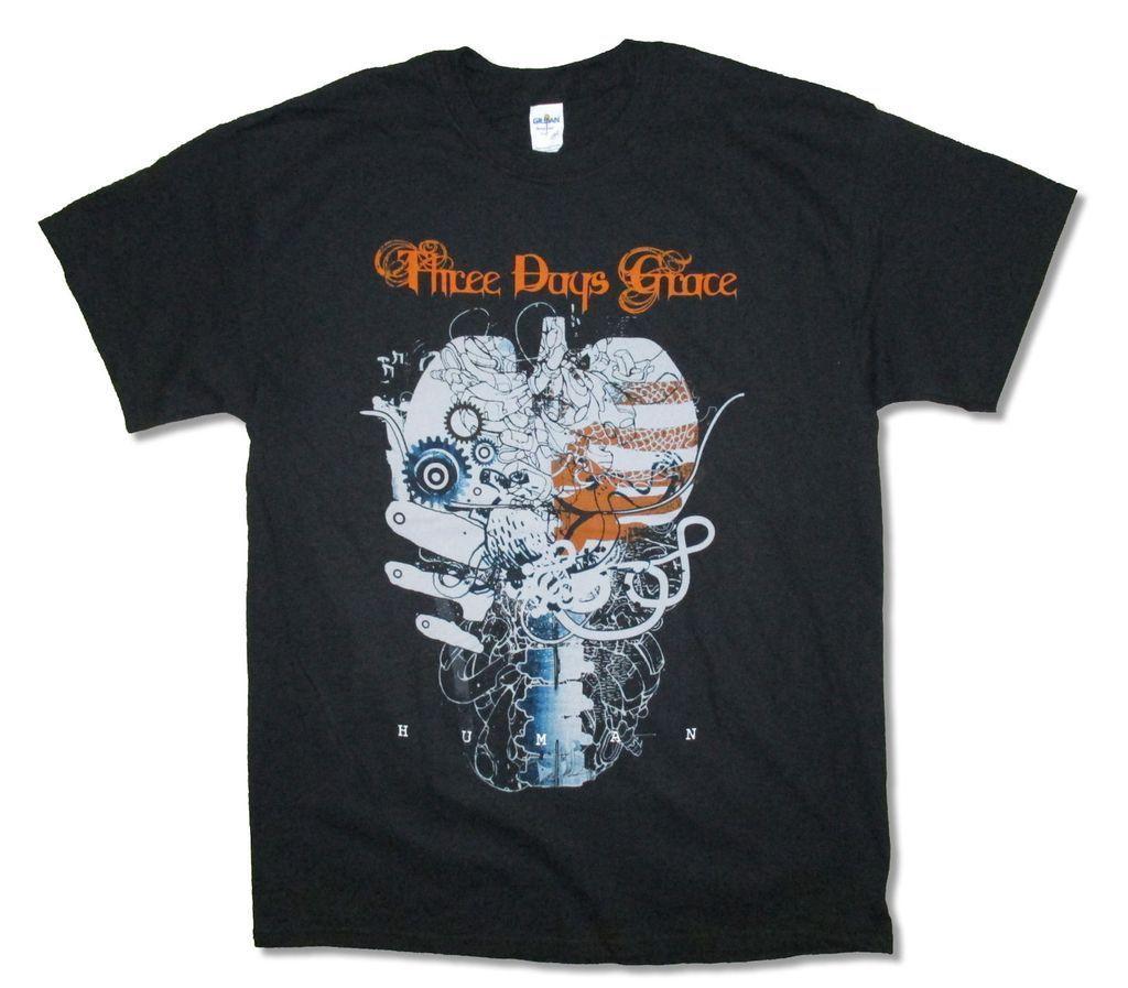 Shirts human design - Tee Shirt Tops Design Men Crew Neck Three Days Grace Lungs Tour 2015 Human Adult Black T Shirt New 3dg Short Sleeve T Shirts